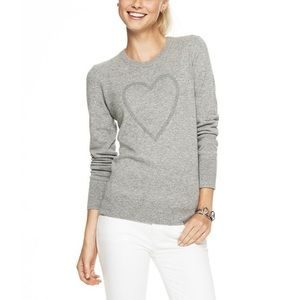 C Wonder gray sweater wool blend embellished heart